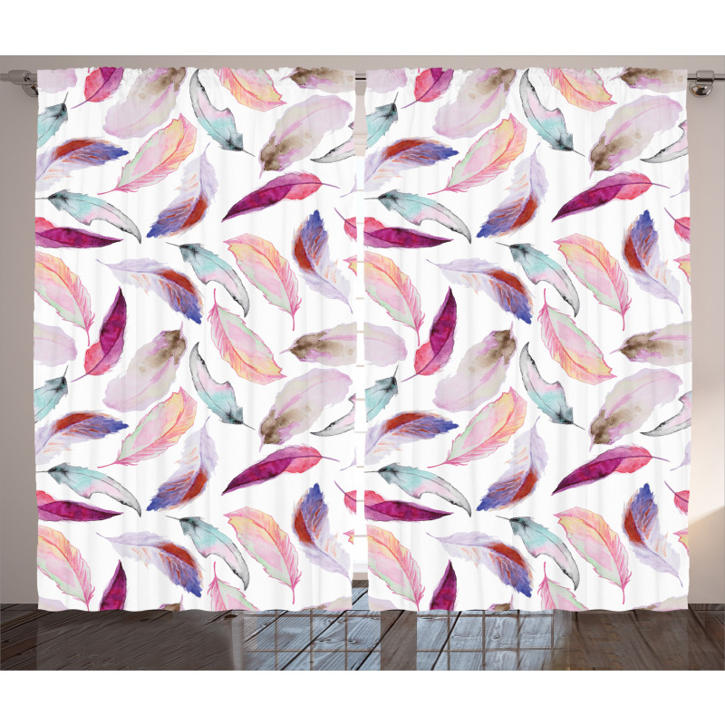 Wing Feathers Wing Art Curtain
