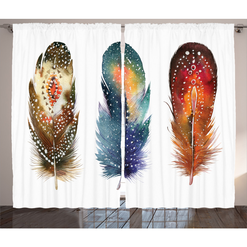 Feather Tribal Curtain