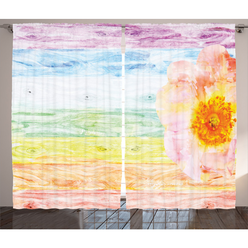 Summer Time Floral Roses Curtain