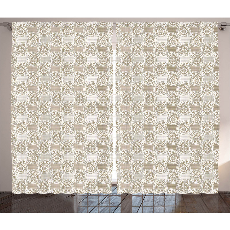 Abstract Geometric Buds Curtain