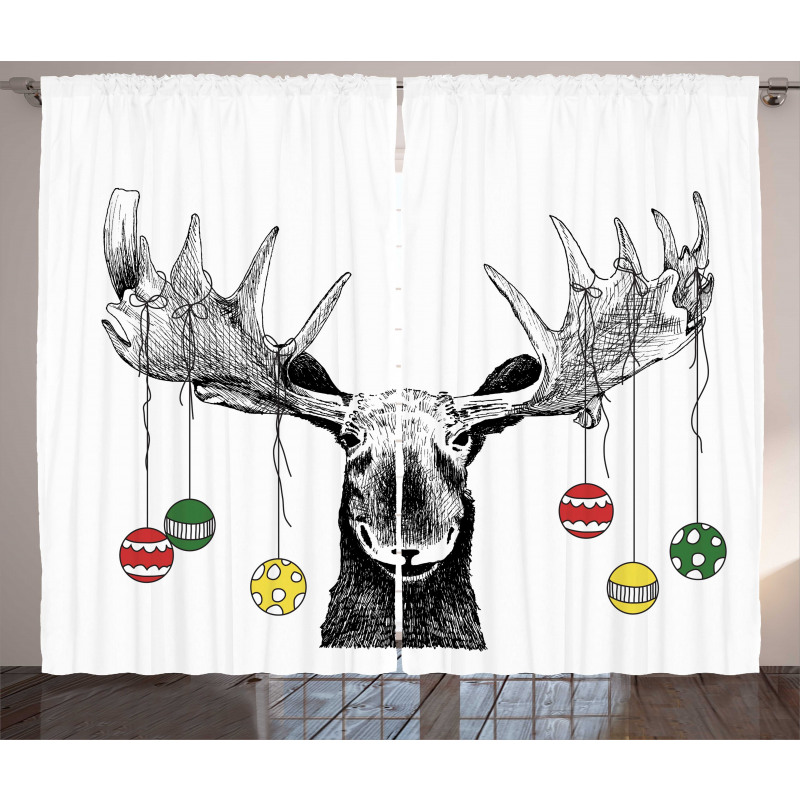 Sketchy Noel Ornament Curtain