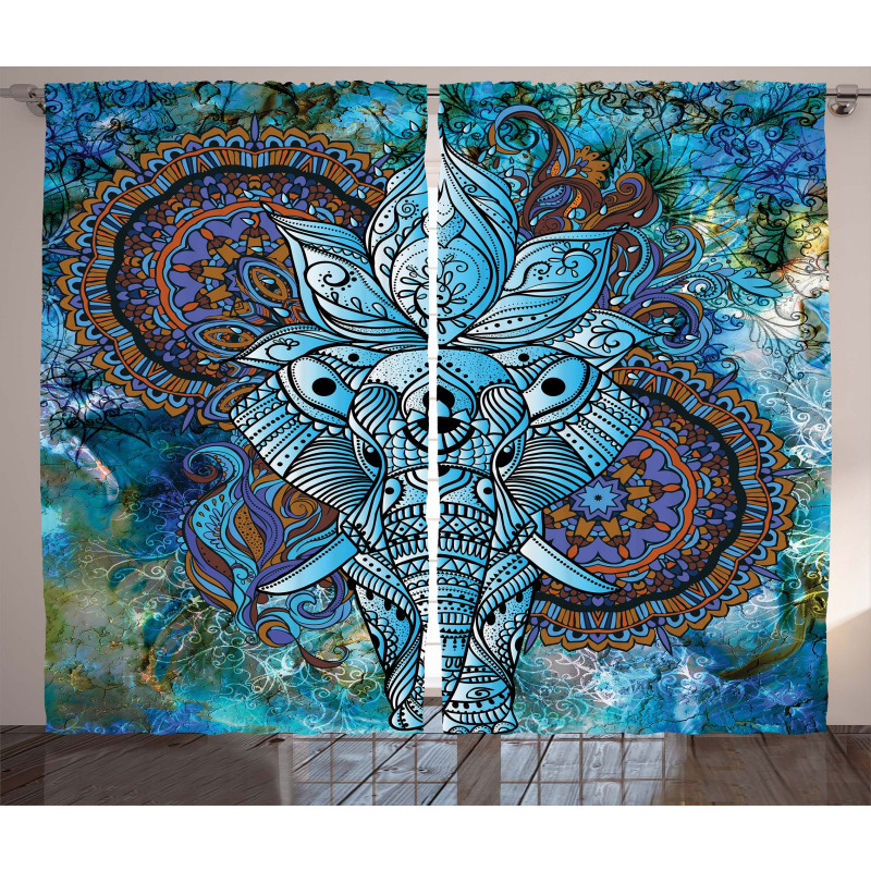Third Eye Symbol Curtain
