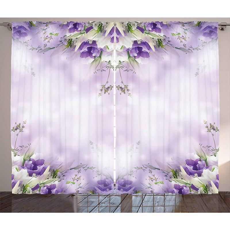 Spring Flower Bloom Curtain