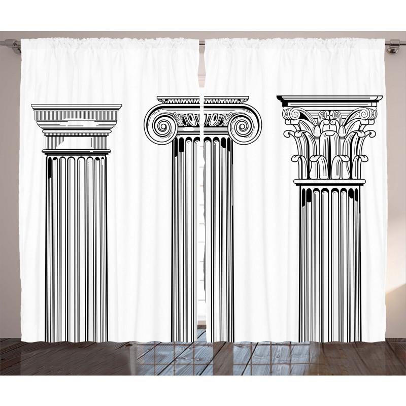 Antique Column Capitals Curtain
