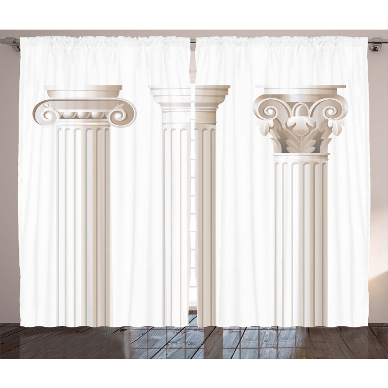 Ionic Doric and Marbles Curtain