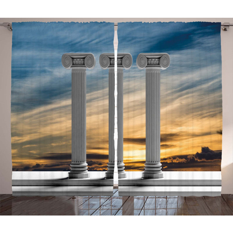 Sunset Modern Antique Curtain
