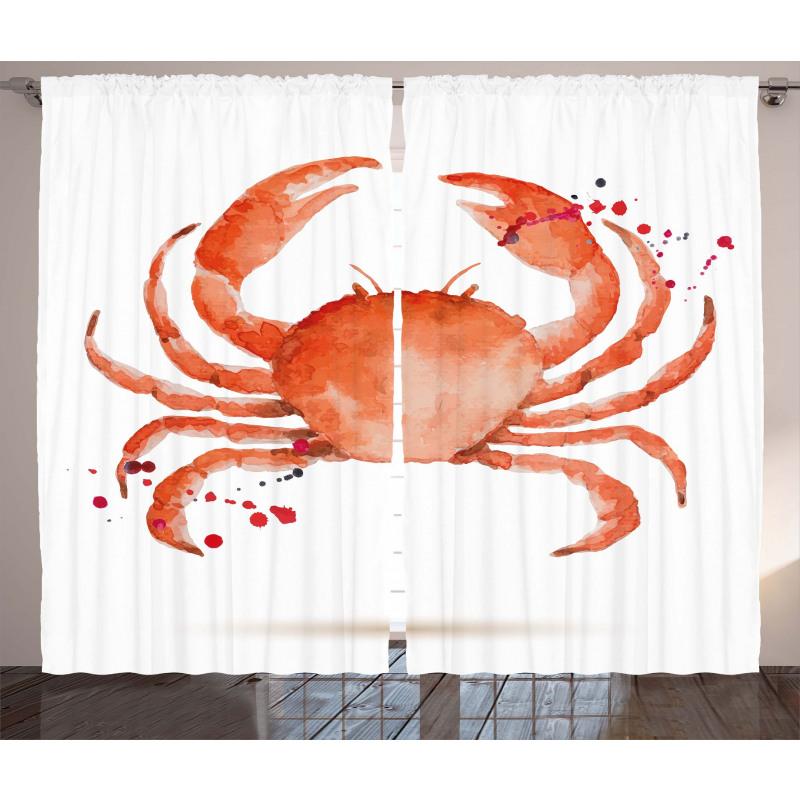 Sea Animals Theme Crabs Curtain