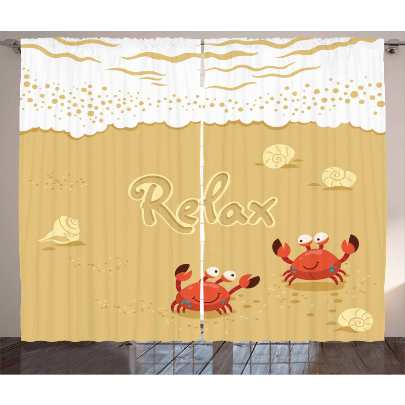 Card with Crabs Sea Curtain