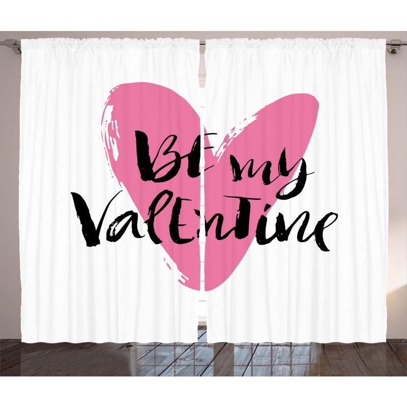 Heart Love Image Curtain