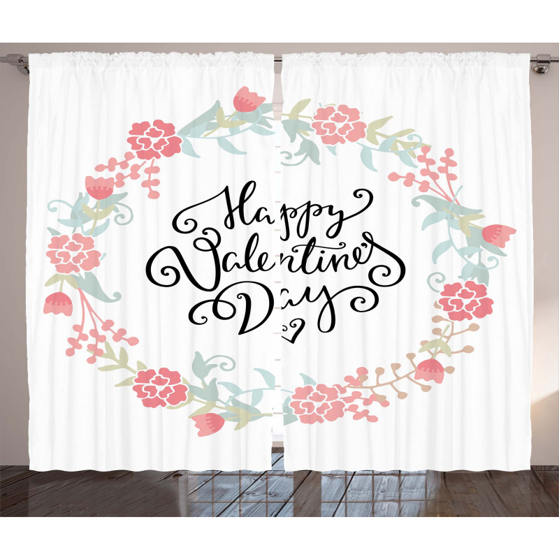 Buds Roses Tulip Curtain