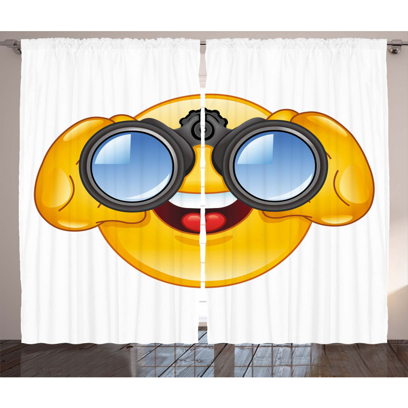 Smiley Face and Telescope Curtain