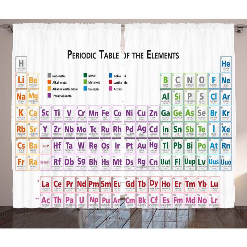 Chemistry Primary Table Curtain