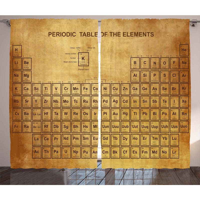 Vintage Chemistry Table Curtain