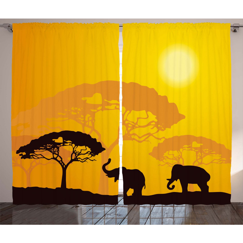 Abstract Wildlife Curtain