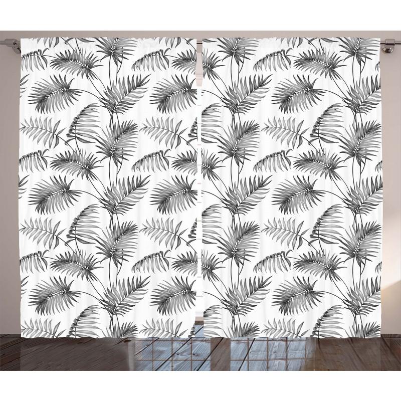 Palm Leaf Botanic Island Curtain