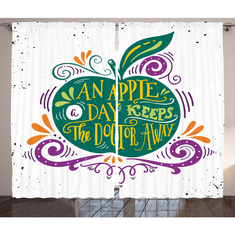 Eat Healthy Words Curtain