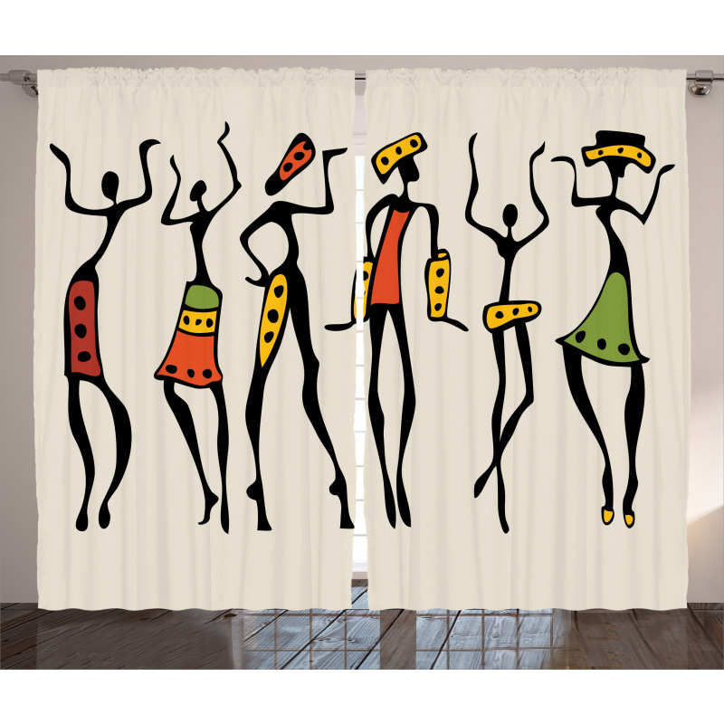 Clan Dancer Ethnic Curtain