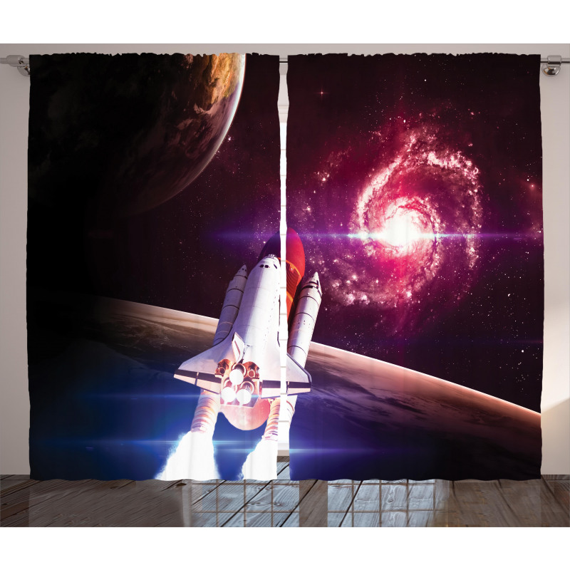 Milky Way Galactic Theme Curtain