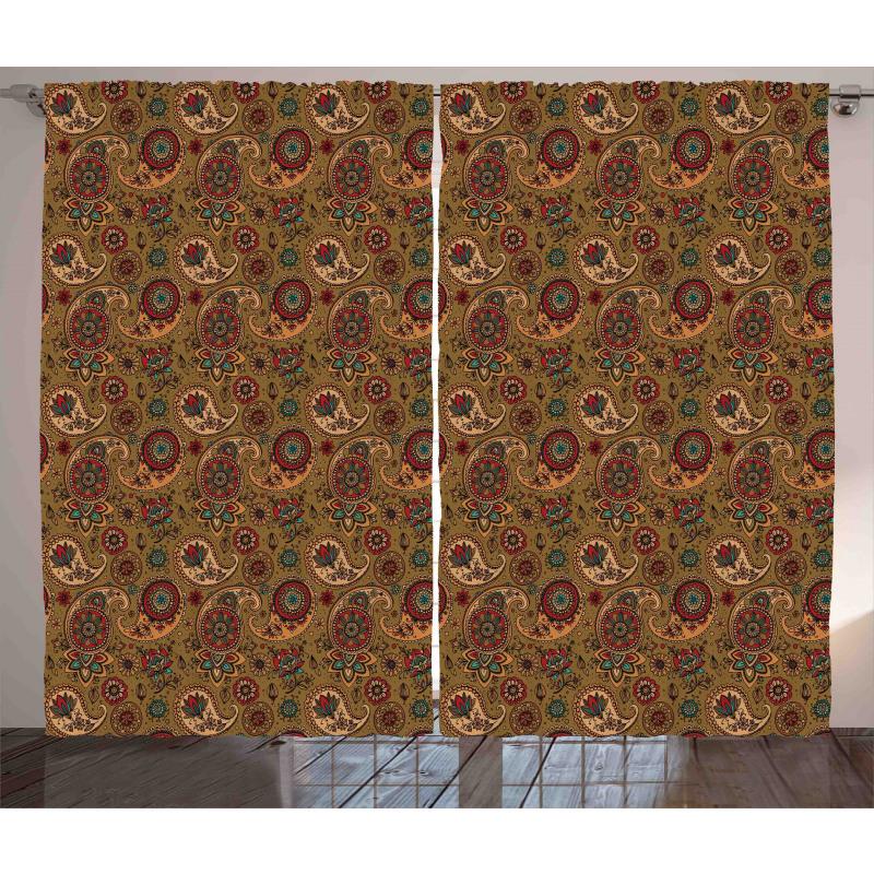 Vintage Motif Curtain