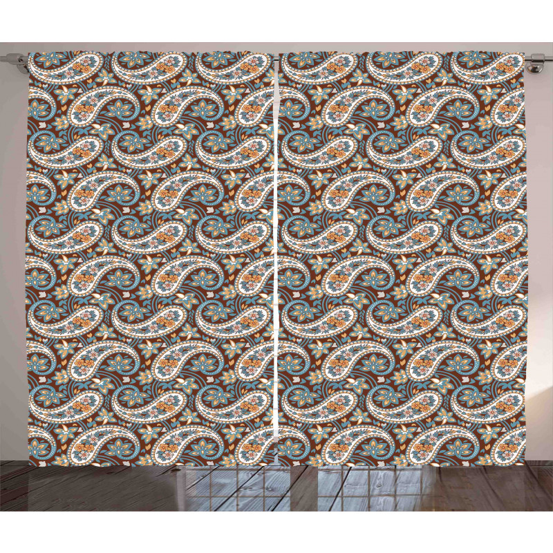 Vintage Oriental Ethnic Curtain