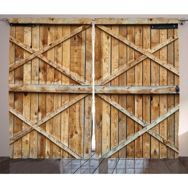 Wooden Timber Door Plank Curtain