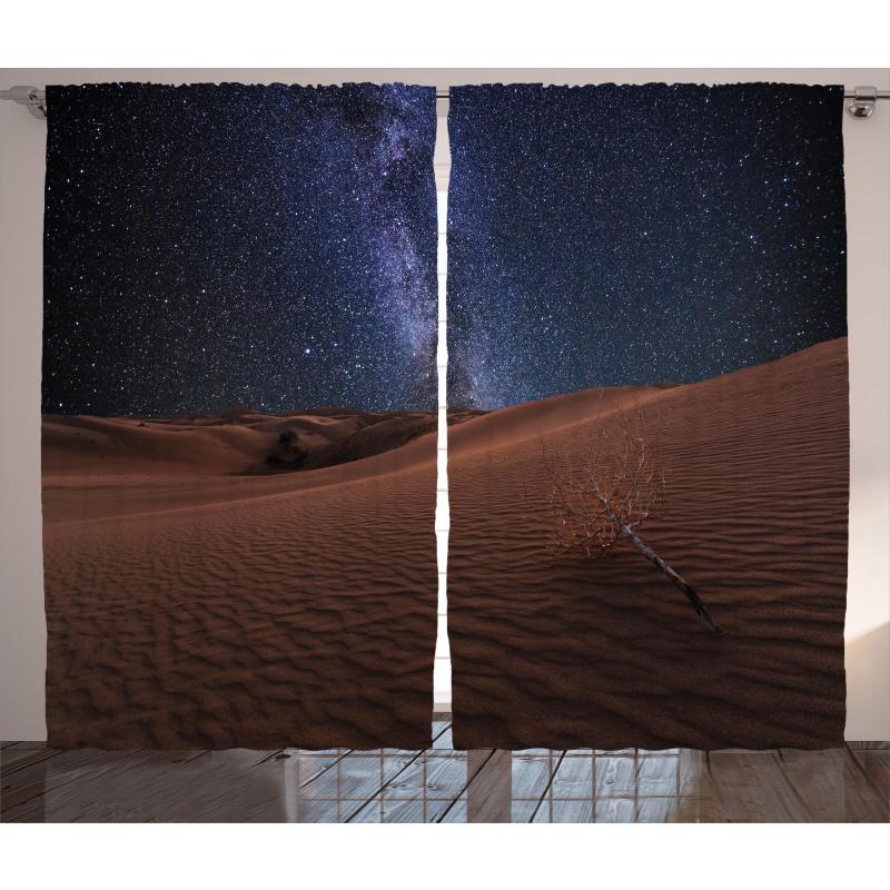 Desert Lunar Life on Mars Curtain