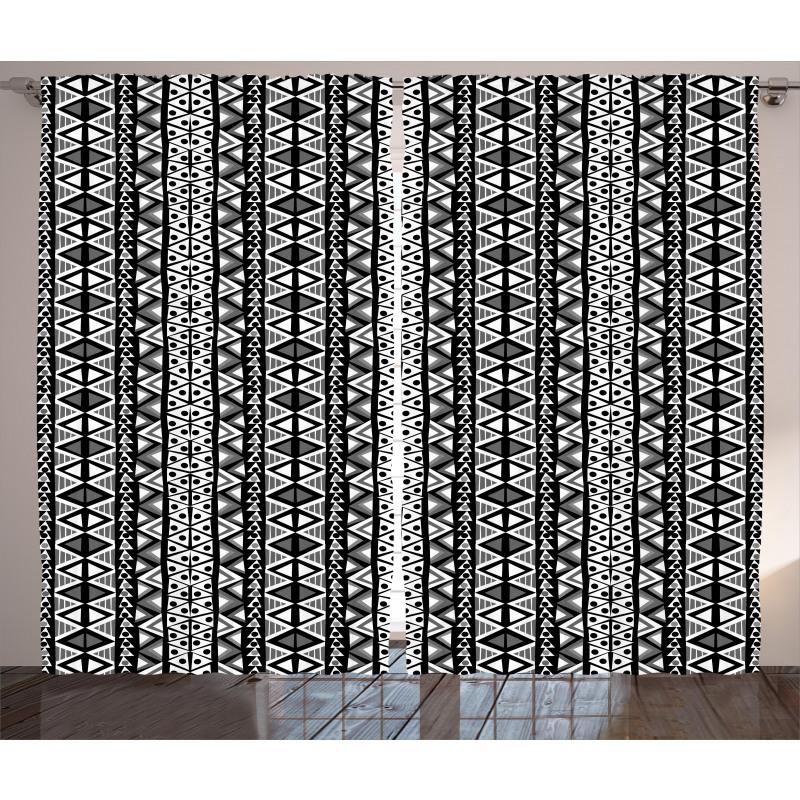 Boho Aztec Style Curtain