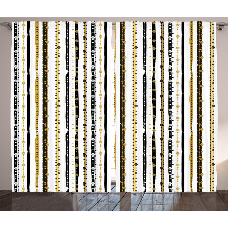Vertical Lines Rounds Curtain