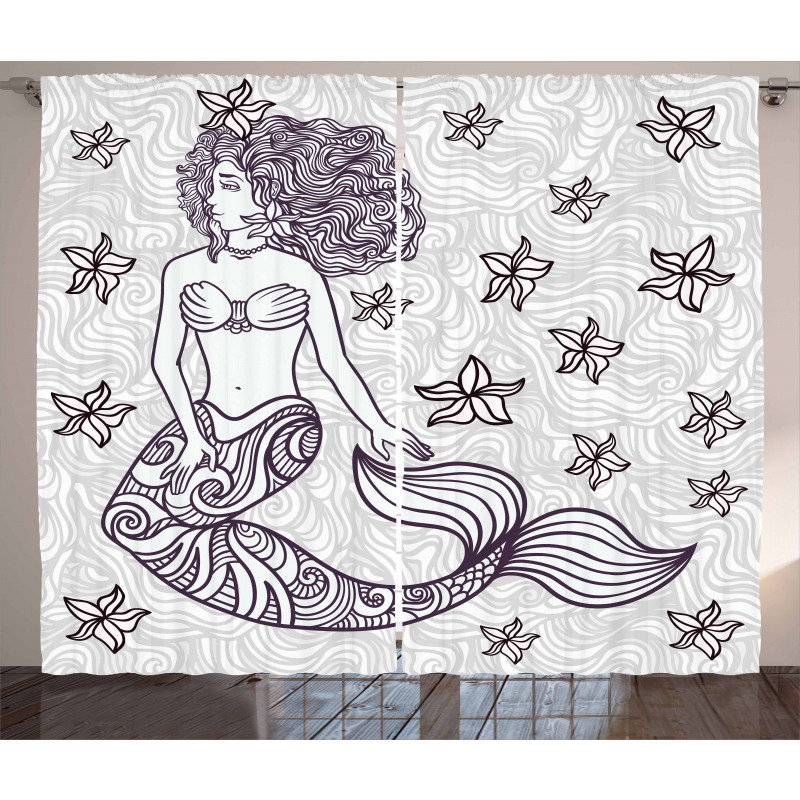 Mermaid with Wave Curtain