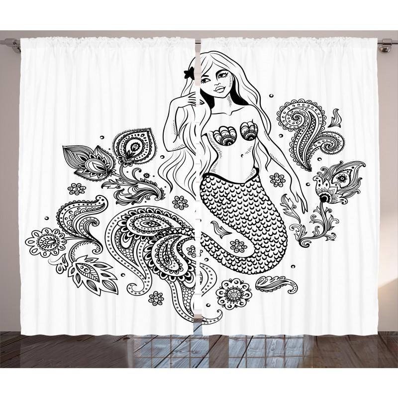 Mermaid in Ocean Curtain