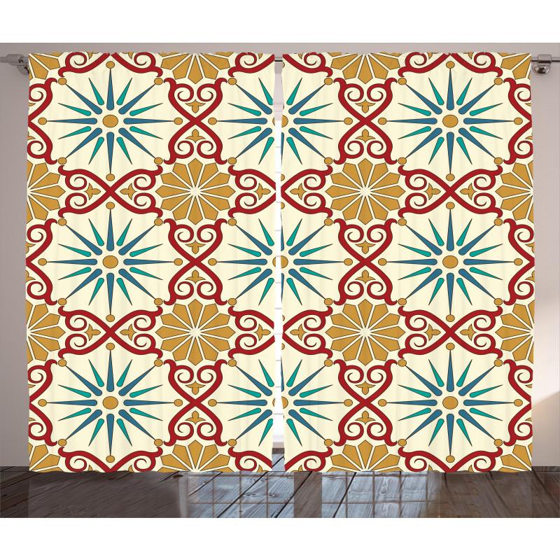 Geometric Forms Curtain