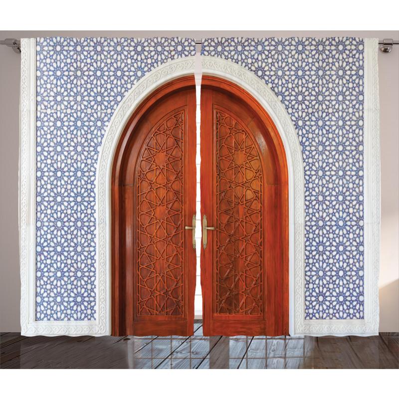 Antique Stars Wooden Door Curtain