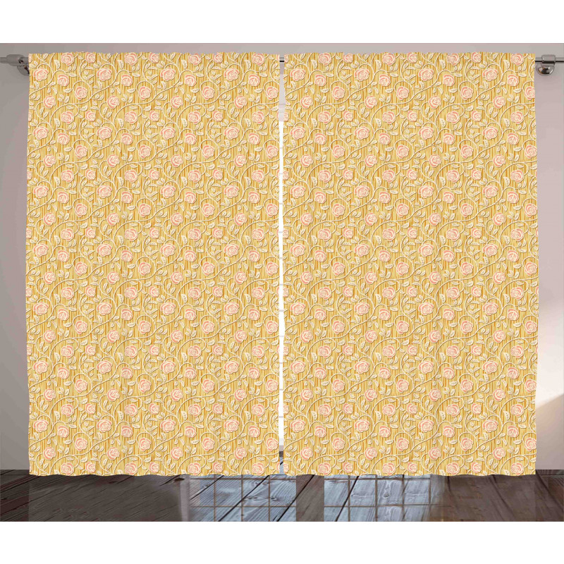 Romantic Rose Petal Curtain