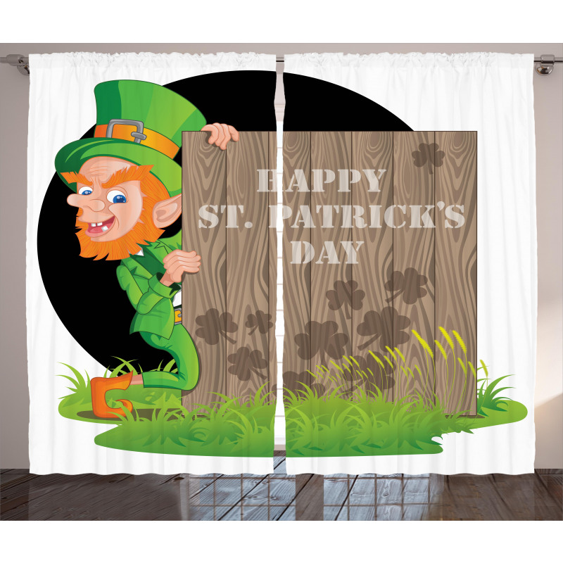 Plank Shamrock Curtain