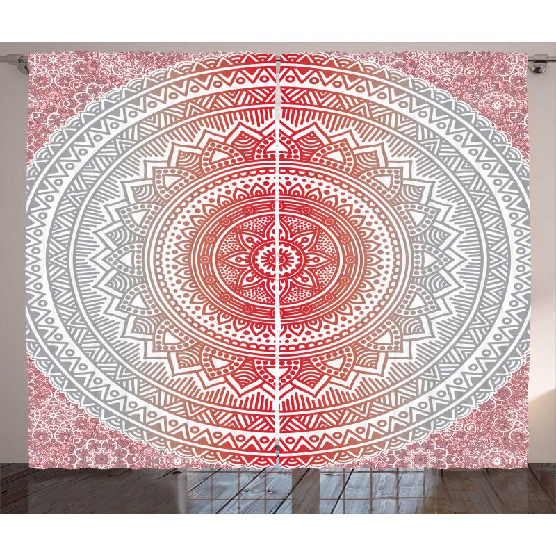 Ombre Mandala Boho Curtain