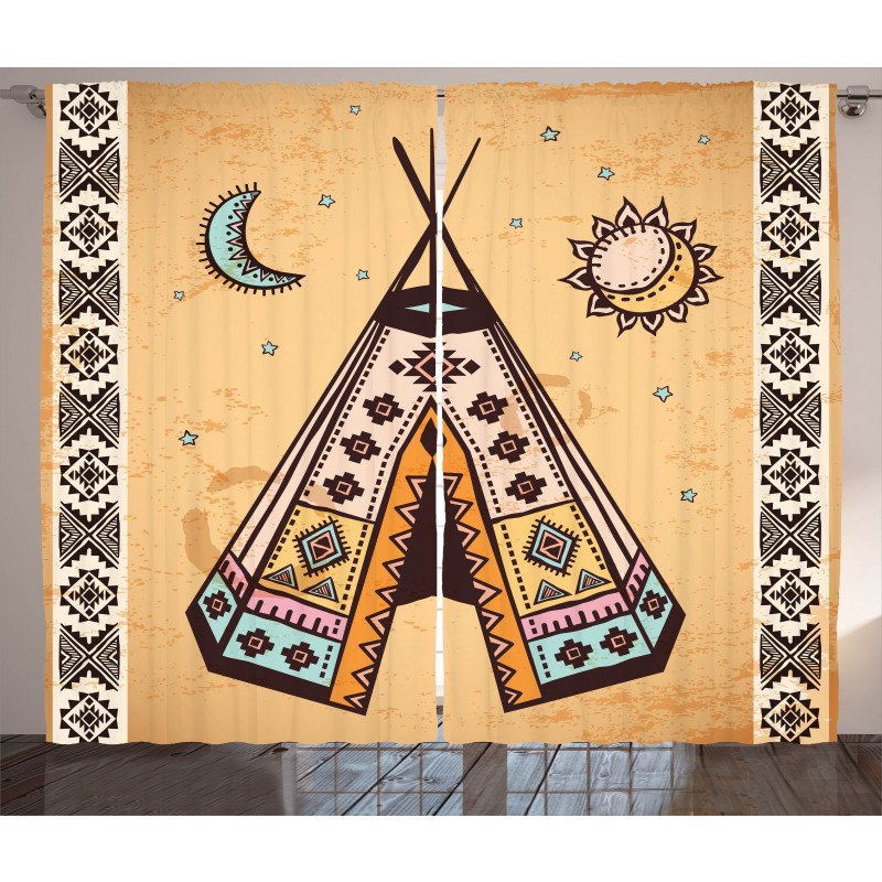 Native Bohemian Signs Curtain