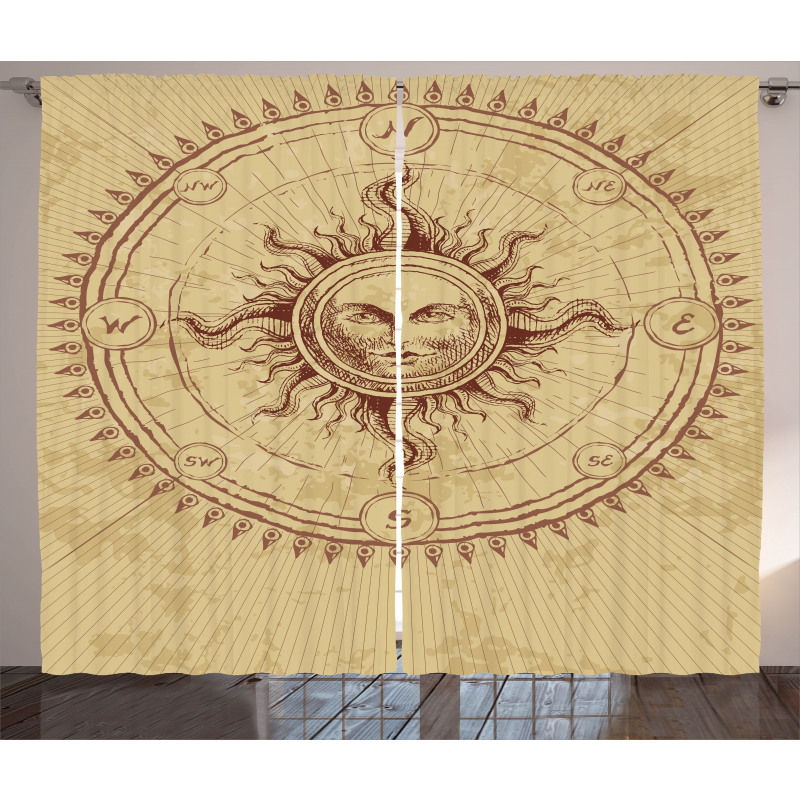 Antique Roman Sun Stone Curtain