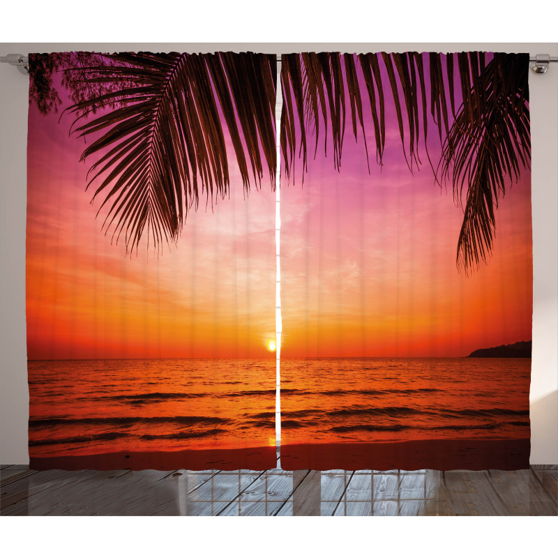 Coconut Palm Tree Leaf Curtain