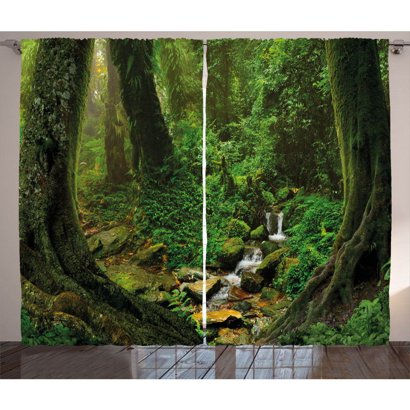 Nepal Jungle Forest Curtain