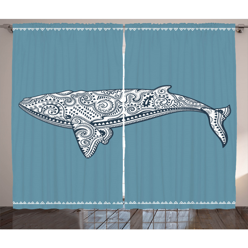 Embellish Whale Curtain
