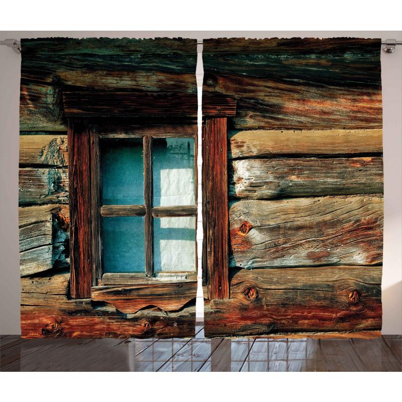 Wooden Pattern Window Curtain