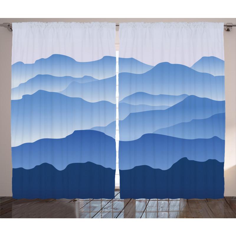 Nature Theme Silhouette Curtain