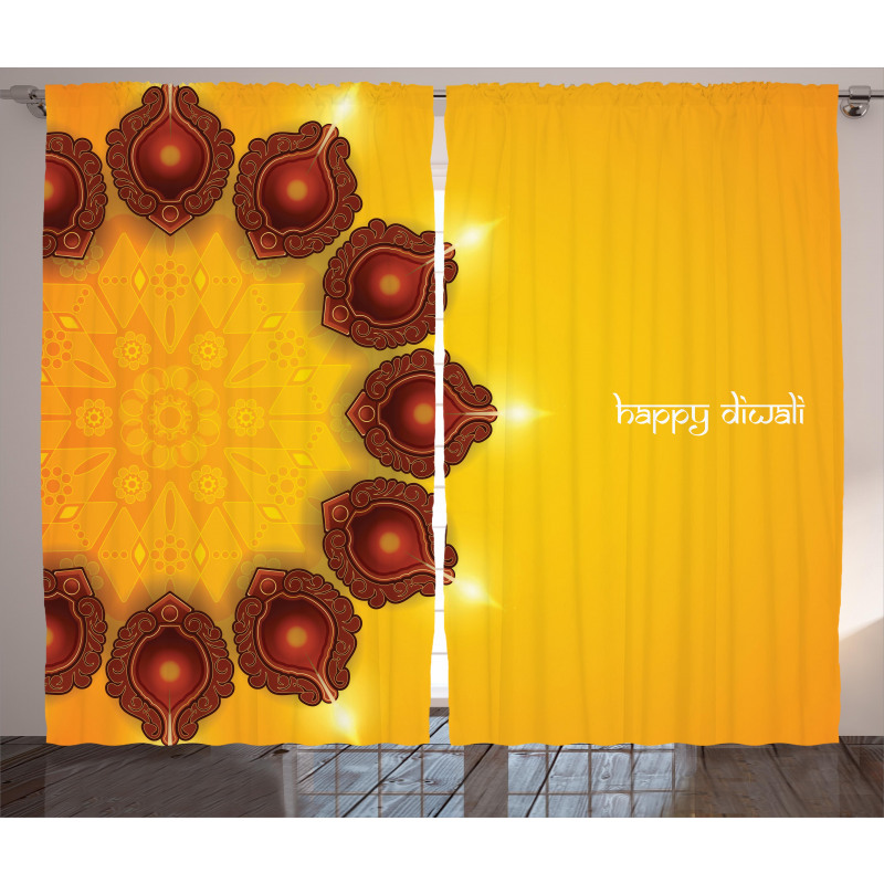 Candle Asian Curtain