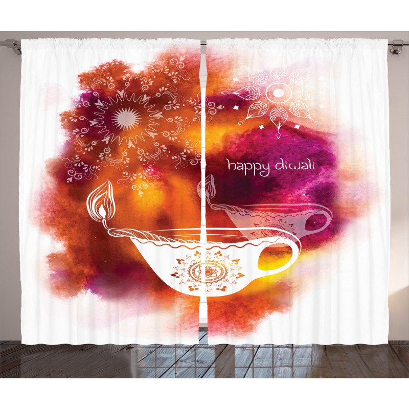Brushstroke Candle Curtain