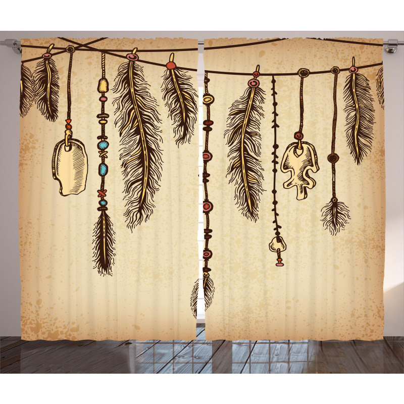 Bohemian Feathers Curtain