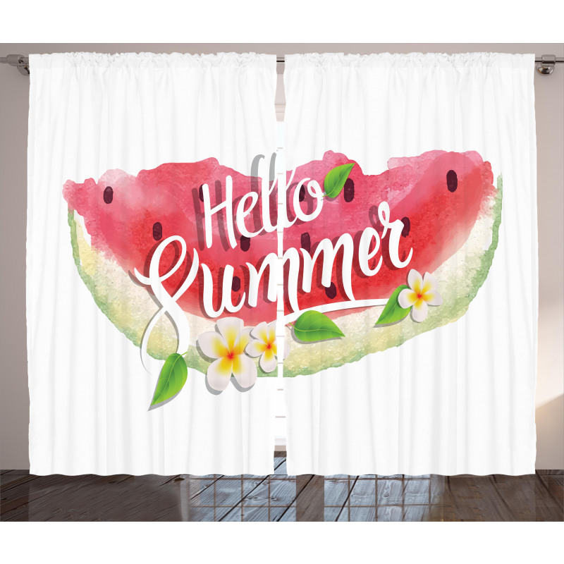 Summer Welcome Words Curtain