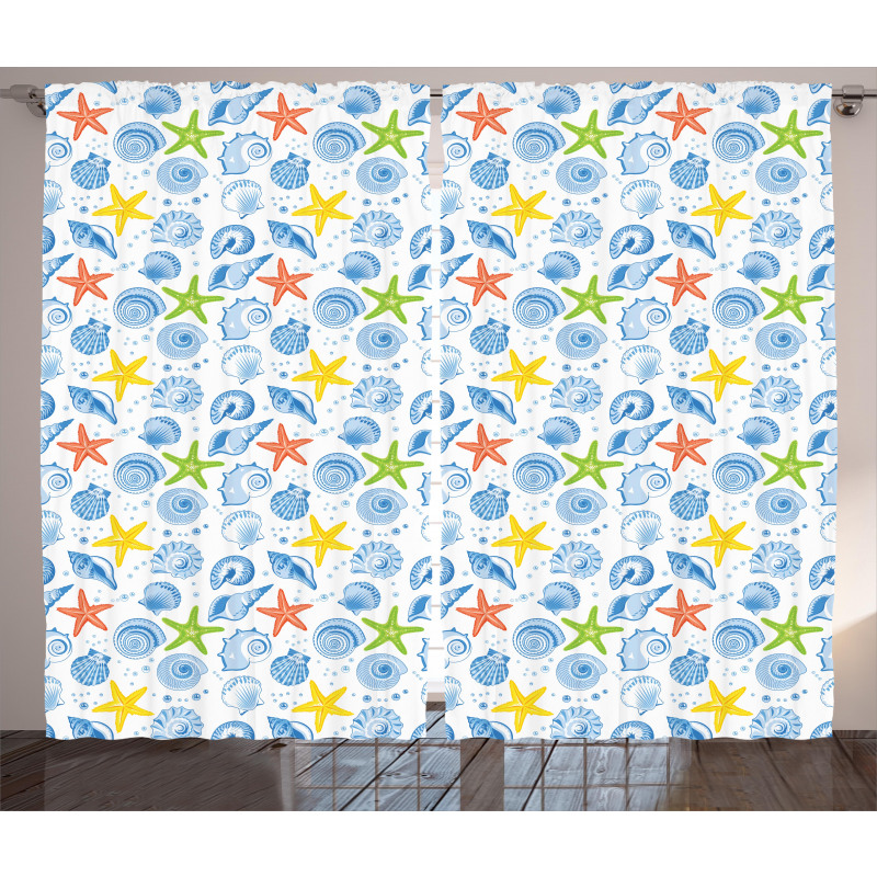 Marine Themed Starfish Curtain