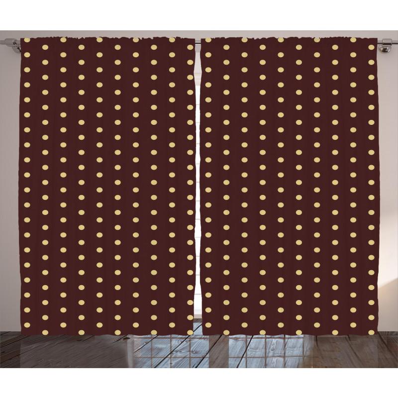 Old Fashion Retro Dots Curtain