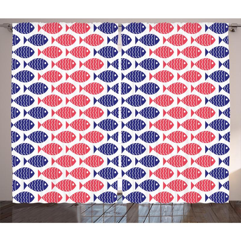 Nautical Fish Theme Design Curtain
