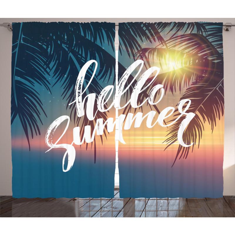 Tropic Paradise Beach Curtain